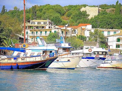 The lively Kassiopi with its pretty harbour