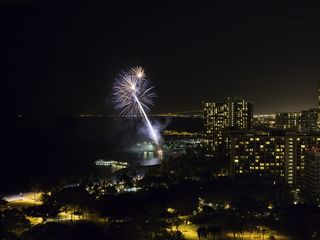 Honolulu condo photo - Wow, watch the fireworks every Friday night from lanai of Trump Waikiki 2503!