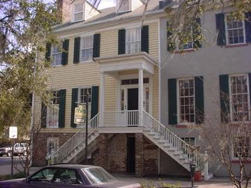 Savannah condo rental - Liberty Street view of Bird Baldwin House