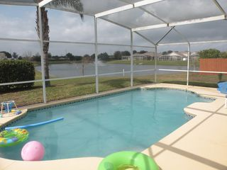 Hampton Lakes villa photo - Private Sunny Pool with great Lake View