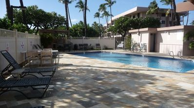 One of two pools - this one just steps from our suite!
