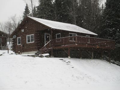 Pittsburg cabin rental - Snowmobilers Paradise! New sofas, new kitchen table, roomy kitchen.