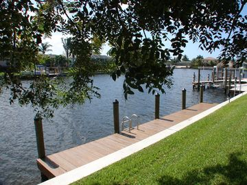 Gulf access waterway and boat dock