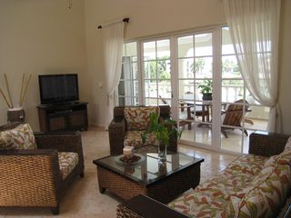 Puerto Plata villa photo - Upper level family area w/French doors leading to balcony