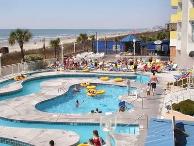 some of the many outdoor pools