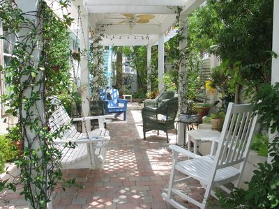 Tybee Island cottage rental - Garden of Eden right outside your back door; exquisite for a memorable evening