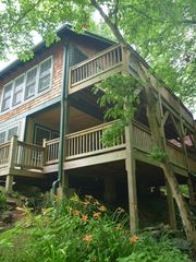 Swannanoa cabin photo - back decks