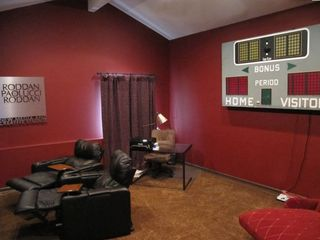 Media/Bonus Room Features Large Flat Screen TV, Office Nook, and Xtra Sleeping