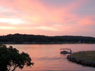 Lago Vista house photo - Beautiful Sunset while looking across Lake Travis
