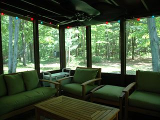 Fennville house photo - Screened Porch in Back with Plenty of Room to Hang!