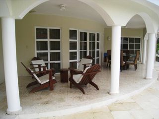 Puerto Plata villa photo - Relaxing patio overlooking private pool