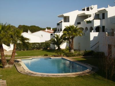 Attractive Spanish style apartment overlooking Son Parc 18 Hole Golf Course