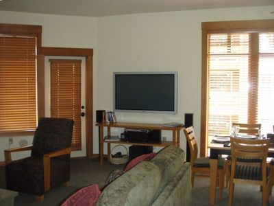 "Living Room with 50"" LCD TV"