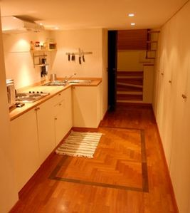 Fully appointed kitchen with a big wardrobe