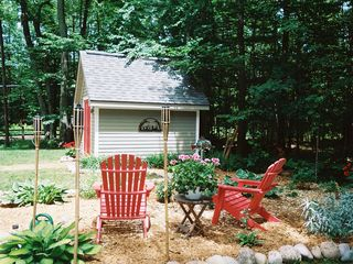 Beautiful Quiet Garden in the Woods - Interlochen house vacation rental photo
