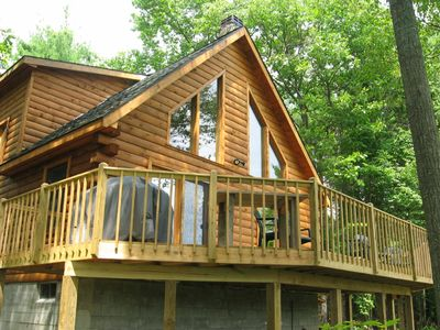 Luxury Log Cabin At Schroon Lake Vacation Rental In New York