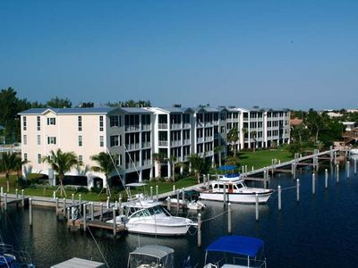 Bay Harbour Condominiums and Marina can accommodate up to 50 ft boats
