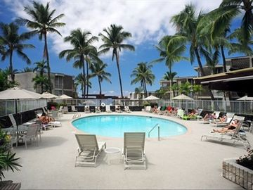 Surround yourself with the quiet serenity of the beautiful Alii Villas' pool.