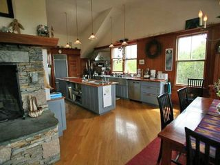 Madaket house photo - Kitchen, dining area,stone hearth