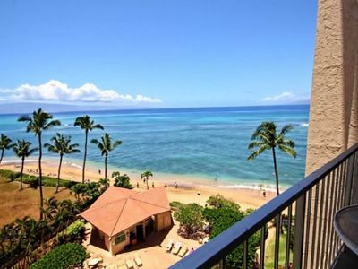 Views of the Pacific from your seventh floor lanai at Royal Kahana.