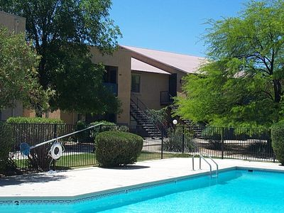 RV 906 is far right upstairs.Pool is usually heated in winter but not guaranteed