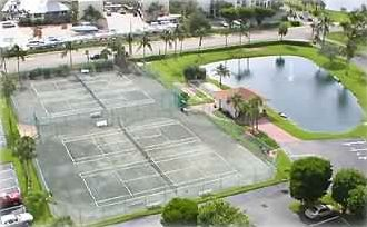 Clay Tennis Courts view from Balcony....tennis players love playing on Clay!