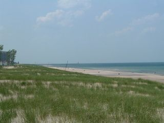 Michigan City house photo - Watch the dune grass dance in the wind!