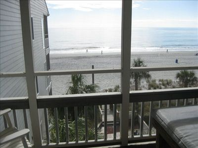 Pelicans Watch condo rental - View from ocean front screened-in porch