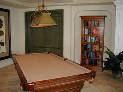 Pool table in the commons area