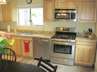 Bend house photo - Fully functional kitchen with new stainless appliances