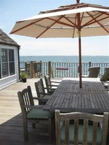 Provincetown cottage rental - Teak Dining Table