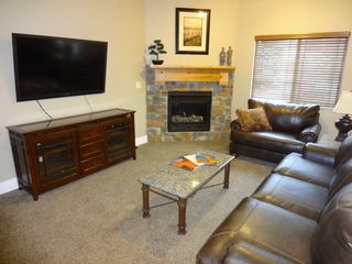 "Snowbasin townhome photo - 55"" TV, DVD, DVR, Free 40 Mbps WiFi, Gas Fire Place, Xtra Pillows &Throw Blanket"