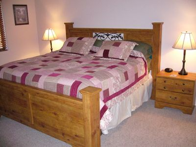 Pinetop condo rental - Master with King bed, lots of room to sleep the hours away