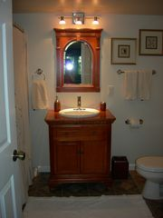 Kentucky Lake house photo - Lower level bathroom with full tub and shower.