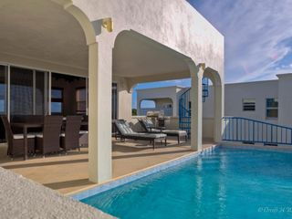 Anguilla villa photo - View of pool deck