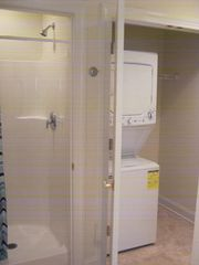 Seaside Heights condo photo - Shower and washer dryer off of foyer for your convenience.
