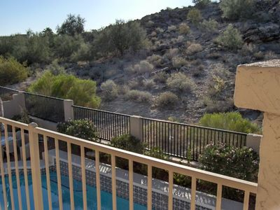 Ahwatukee house rental - A view of the preserve from the master's balcony