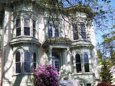 Front of the historic Elliston, a landmark building on the National Register