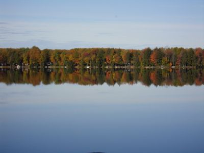 Autumn colors on the lake.