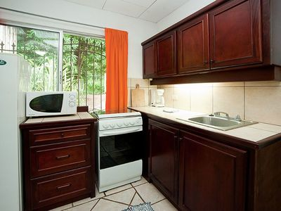 The 'Orange' cabina has a large full kitchen.