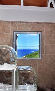 Walk in shower with amazing ocean views