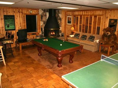 The Bear's Playroom:  First Level Game Room,bar,pool table, ping pong, videos