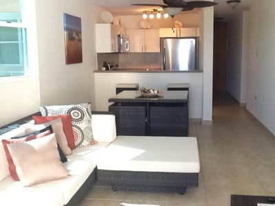 Isabela apartment rental - Family room, dinning room and kitchen
