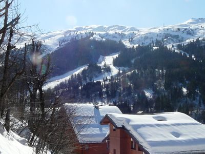 Meribel Centre (1450) chalet rental - A view over the valley
