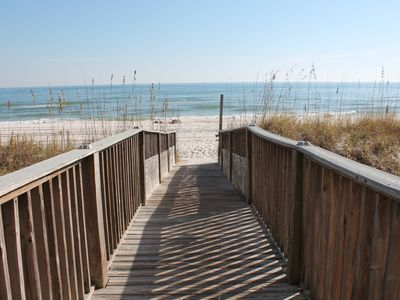 Full Gulf front private beach access, restroom, beachside indoor & outdoor pools