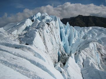 This spectacular ice-scape of the Matanuska glacier is available to our hikers.