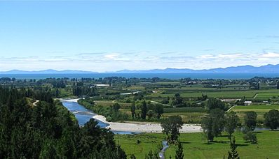 View of the Motueka River from our Cottage