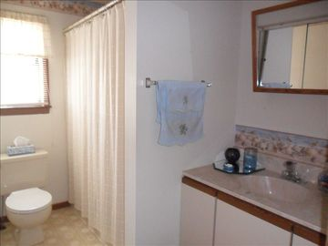 Partial view of full bathroom