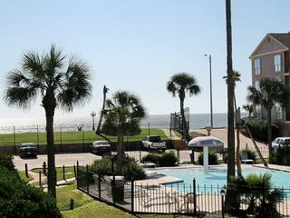 Galveston condo photo - Great view of the Gulf and the pool.