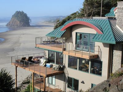 Ocean Front home with unobstructed views and private beach access
